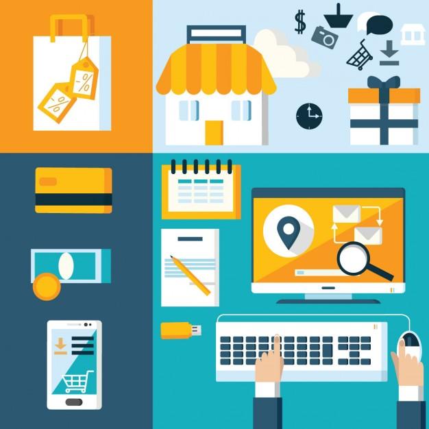web shop elements in flat design 1051 442 - دانستنی قانون کار